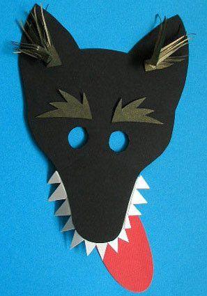 Как сделать маску волка из бумаги своими